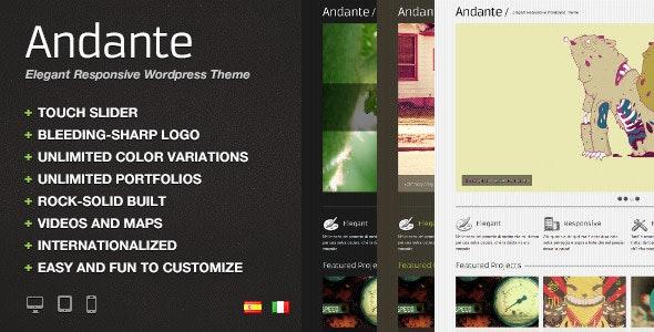 Andante WP – Elegant Responsive Wordpress Theme - Portfolio Creative