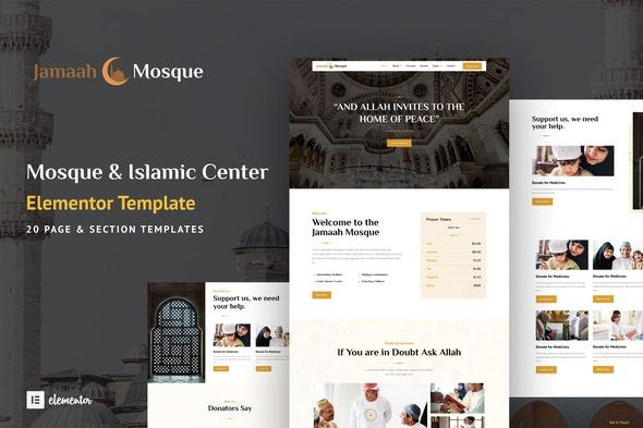 Jamaah - Mosque & Islamic Center Elementor Template Kit - Non-Profit & Religion Elementor