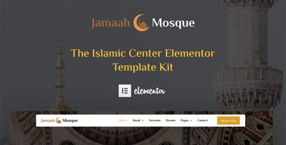 Jamaah - Mosque & Islamic Center Elementor Template Kit