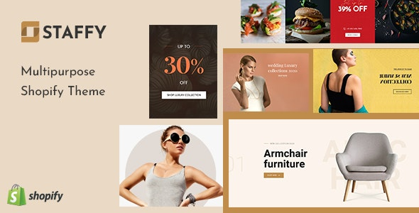 Staffy - The Responsive Multipurpose Shopify eCommerce Theme - Fashion Shopify