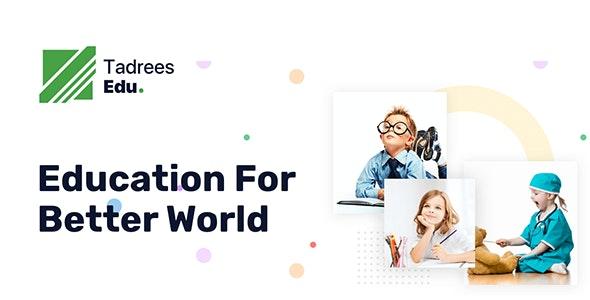 Tadrees - Minimal School WordPress Theme - Education WordPress