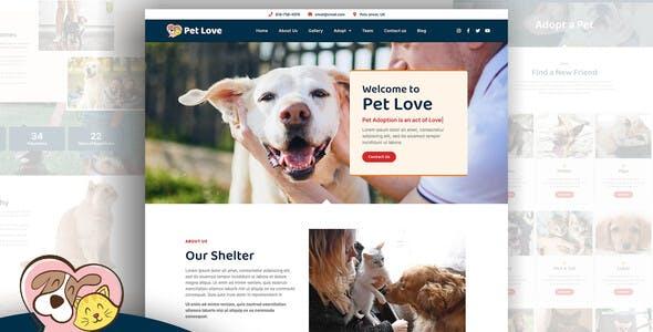 Pet Love - Animal Shelter Elementor Template Kit