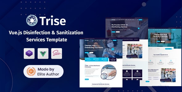 Trise - Vuejs Disinfection & Cleaning Template - Business Corporate