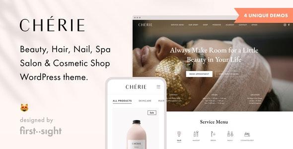 Chérie: Beauty Salon WordPress Theme - Health & Beauty Retail