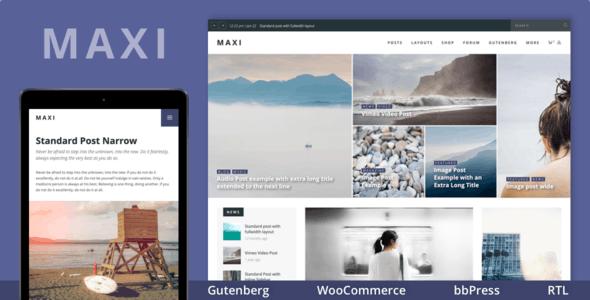 Maxi - Gutenberg Magazine & News Theme - News / Editorial Blog / Magazine