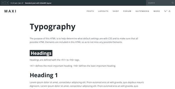 Maxi - Gutenberg Magazine & News Theme
