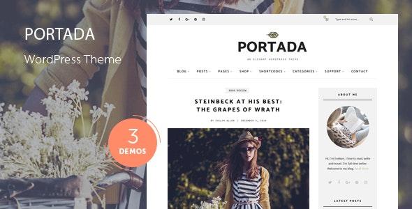 Portada - Elegant Blog Blogging WordPress Theme - Personal Blog / Magazine
