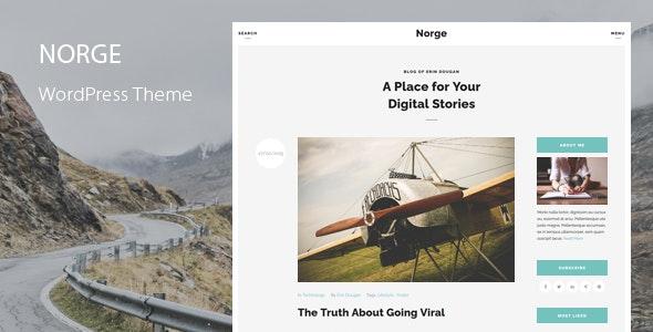 Norge - Responsive Blog WordPress Theme - Personal Blog / Magazine