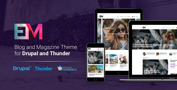 EM - Blog & Magazine Drupal Theme - Blog / Magazine Drupal