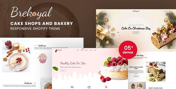 Brekoyal - Cake & Bakery Responsive Shopify Theme