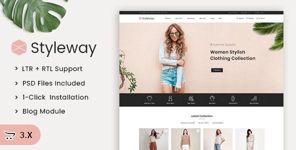 Styleway - Online Fashion OpenCart 3.x Responsive Theme - Fashion OpenCart