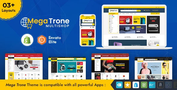 Mega Trone - Shopify Multi-Purpose Responsive Theme - Shopping Shopify