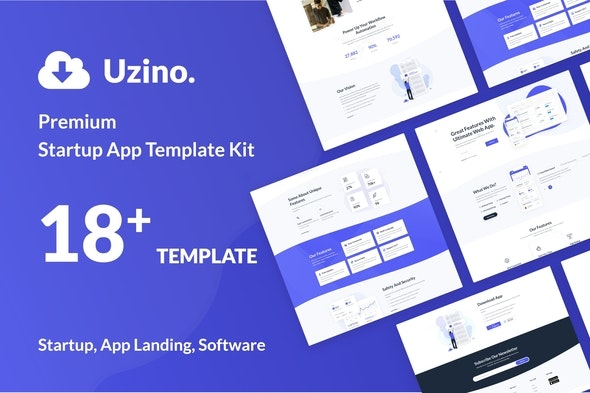 Uzino | Startup App Elementor Template Kit - Technology & Apps Elementor