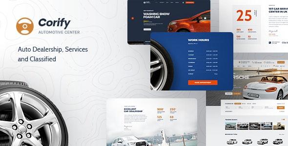 Corify v1.0.9 – WordPress Car Listings & Dealership Theme