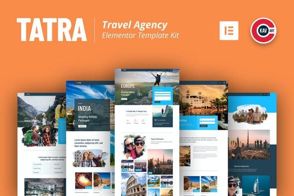 Tatra - Travel Agency Elementor Template Kit - Travel & Accomodation Elementor