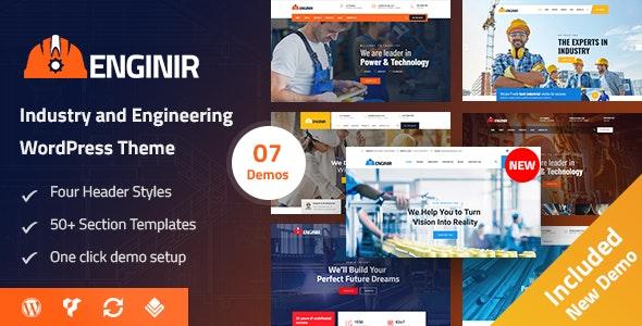 Enginir - Industrial & Engineering Multipurpose WordPress Theme - Business Corporate