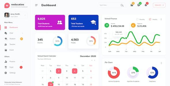 Weducation - Clean Dashboard UI Template Figma