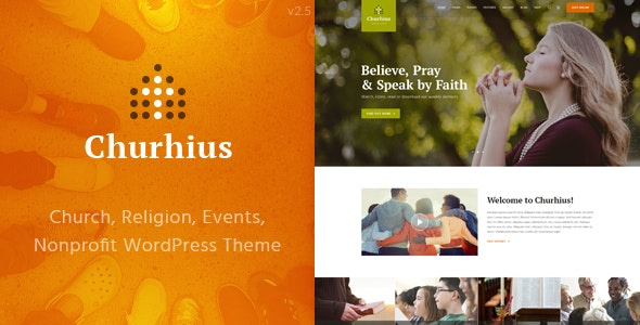 Churhius - Church Religion WordPress Theme - Churches Nonprofit