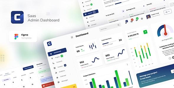 Codebyte - Saas Admin Dashboard UI Template Figma - Miscellaneous Figma
