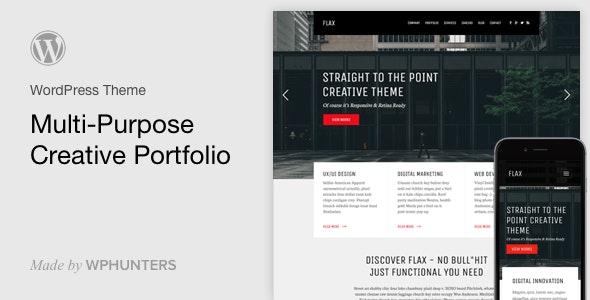 Flax - A Multi-Purpose Portfolio WordPress Theme - Portfolio Creative