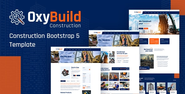 OxyBuild Construction Bootstrap 5 Template