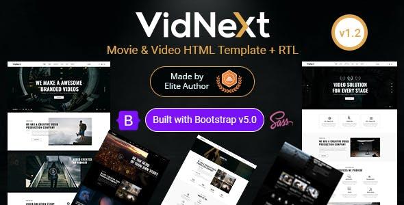 VidNext - Movie & Video HTML Template