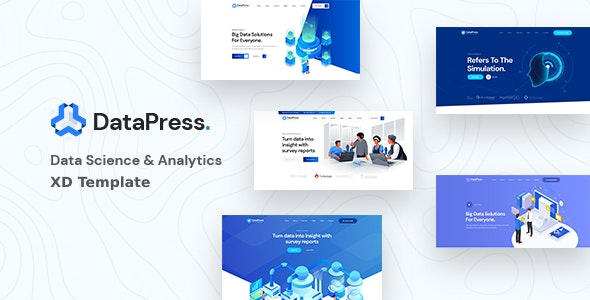 DataPress - Data Science & Analytics XD Template - Software Technology