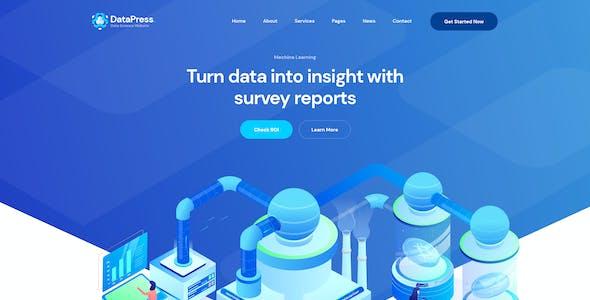 DataPress - Data Science & Analytics XD Template