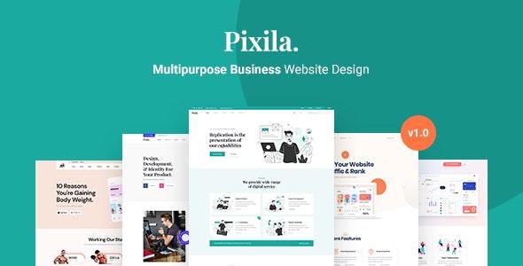 Pixila - Creative Multipurpose PSD Template - Photoshop UI Templates