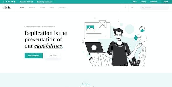 Pixila - Creative Multipurpose PSD Template