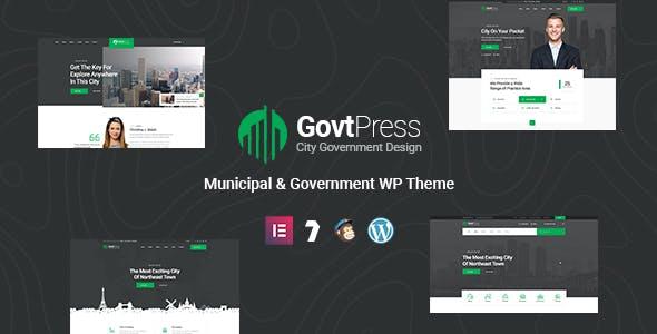 GovtPress - Municipal and Government WordPress Theme