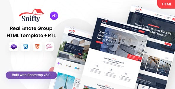 Snifty - Real Estate Group HTML Template
