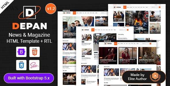 Depan - News Magazine HTML Template