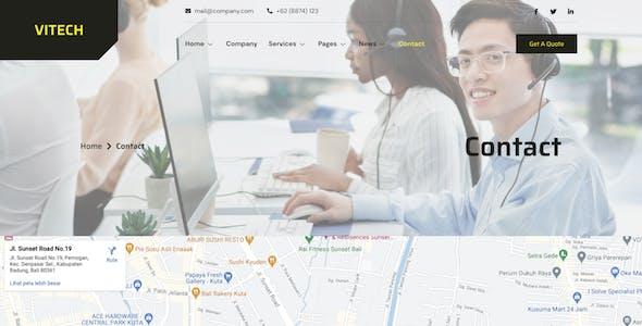 Vitech - Technology & IT Solution Elementor Template Kit