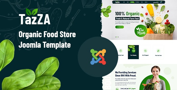 TazZA – Organic Food Store Joomla Template - Food Retail