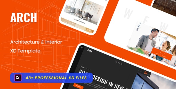 Eureka_Architecture & Interior XD Template - Adobe XD UI Templates