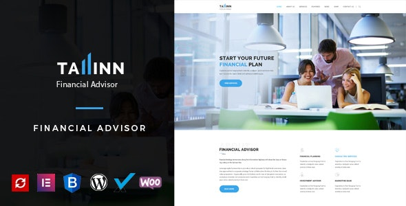 Tallinn - Business and  Consultancy WordPress Theme - Corporate WordPress