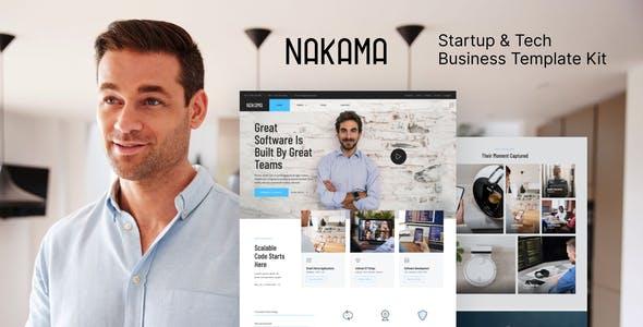 Nakama - Startup & Tech Business Elementor Template Kit