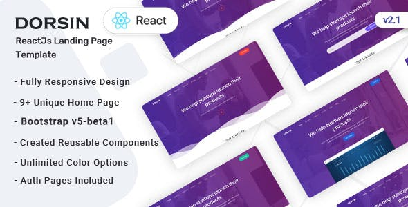 Dorsin - React Landing Page Template