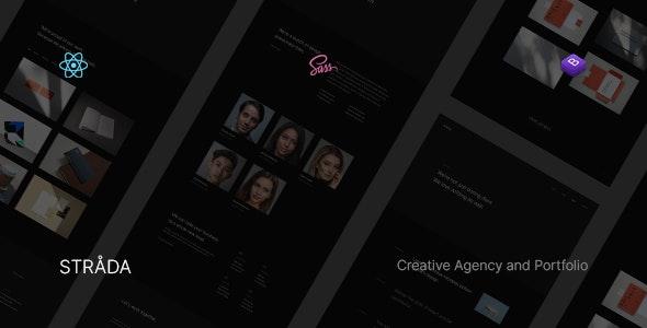 Strada ― React Creative/Portfolio Template - Creative Site Templates