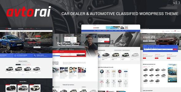 Avtorai- Car Dealer & Automotive Classified WordPress Theme