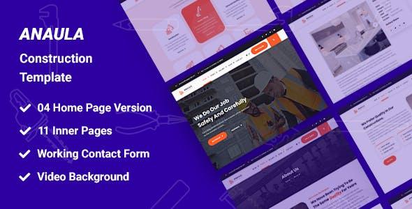 Anaula - Construction HTML Template
