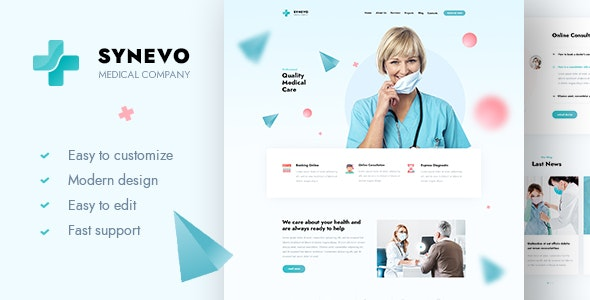 Synevo - Medical Landing Page - Business Corporate