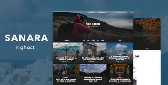 Sanara – Modern Blog and Magazine Ghost Theme - Ghost Themes Blogging