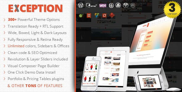 EXCEPTION - Responsive Multi-Purpose WordPress Theme
