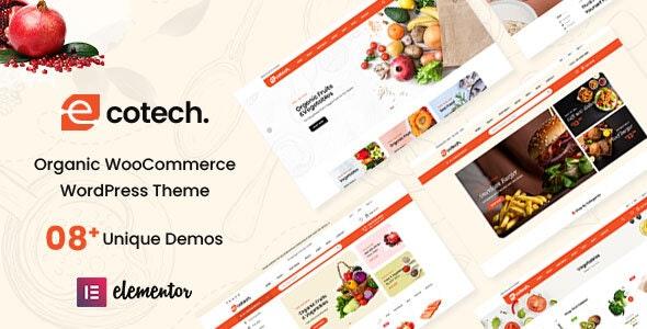 Ecotech - Organic, Food, Multipurpose WooCommerce Theme - WooCommerce eCommerce