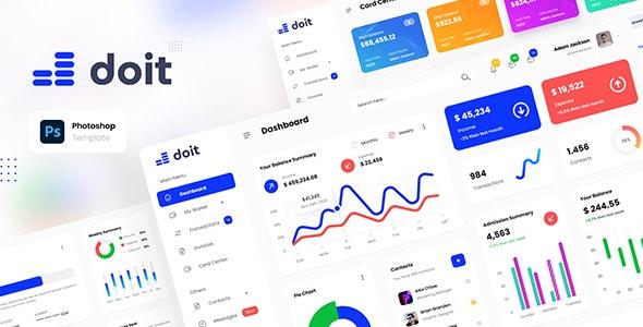 Doit - Personal Banking Admin Dashboard UI Template PSD - Miscellaneous Photoshop