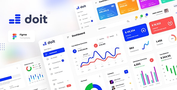 Doit - Personal Banking Admin Dashboard UI Template Figma - Miscellaneous Figma