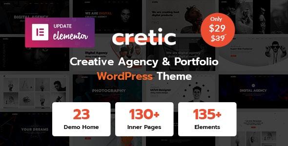 Cretic - Creative Agency WordPress Theme - Creative WordPress