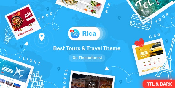 Rica- Bootstrap 4 & 5 Travel , Tours , Hotels & Restaurants Site Template - Retail Site Templates